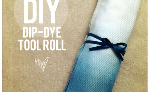 DIY Dip dye make up brush roll
