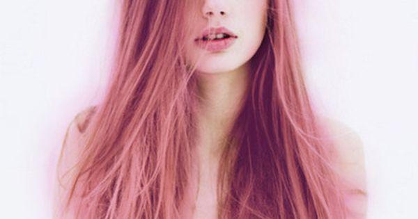 Propuesta Le salon d'Apodaca. melena larga entera color rosa fantasía. lesalondapodaca