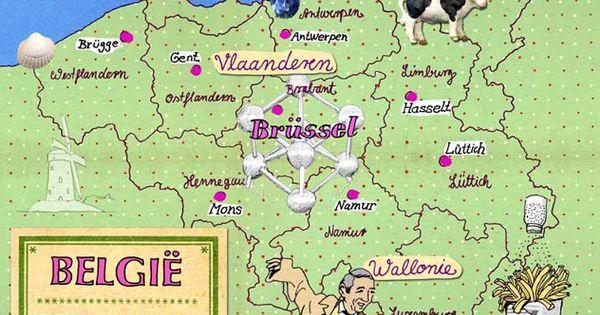 Pin Von Raphaela Pellizzaro Auf Desenhos Belgien Karte