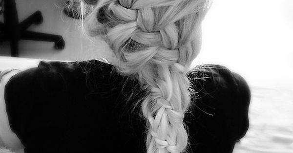 Love Braid hair love braid longhair blondie hairstyles fashion cute