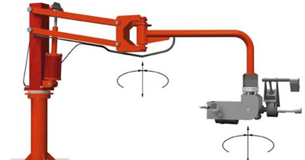 Accordion Articulated Arm : This manipulator s parallel arm is articulated at the
