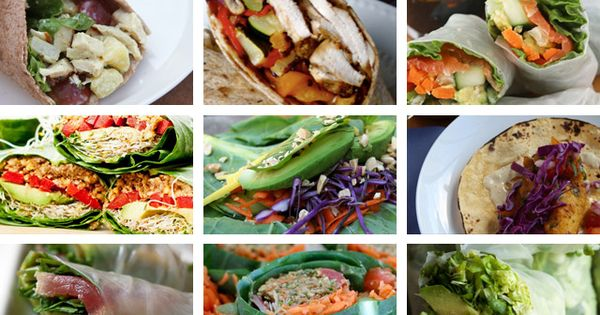 35 Healthy Lunch Wraps. healthy food