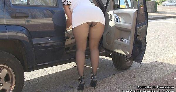 Public Pantyhose Upskirt Sexy Ass Milf In Tights Exposing