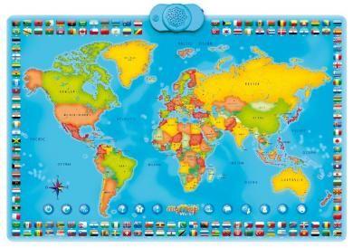 Harta Lumii Interactiva Bilingv Rom Engl Planisferios Mapamundi