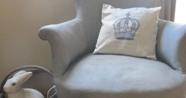 Repeindre un fauteuil en tissu id es pinterest - Repeindre un fauteuil en osier ...