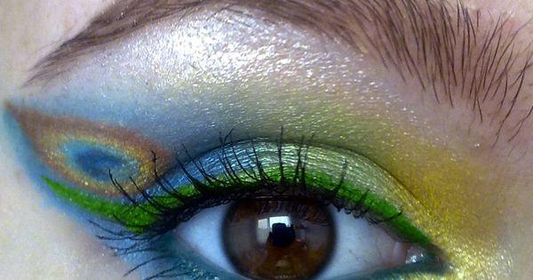 Pretty Peacock inspired eyes