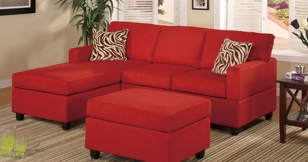 Microfiber Sectional Sofa With Ottoman Living Room Ideas