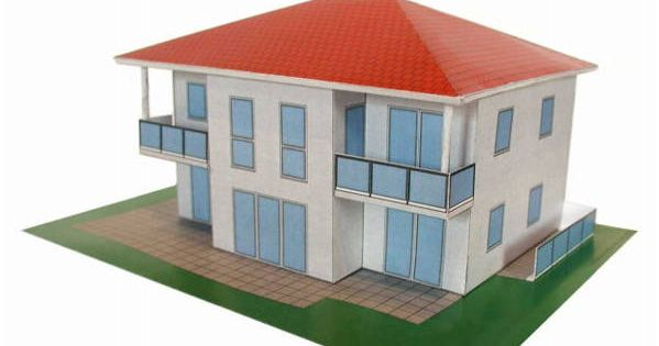 Mauerbach Modern House Free Building Paper Model Download Http Www Papercraftsquare Com Mauerbach Modern House Free Paper Models Modern House Paper Houses