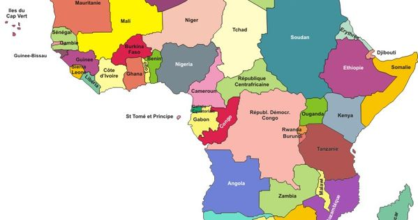 Carte De L Afrique 2016 Carte Afrique Afrique Pays Africains
