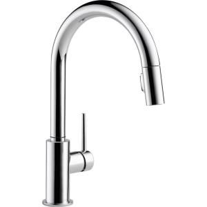 Delta Trinsic Single Handle Pull Down Sprayer Kitchen Faucet With