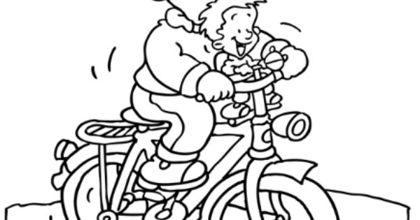 fietsen met papa vaderdag kleurplaten