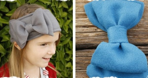 fleece bow ear warmers...nice for big girls too :)