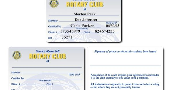 Personalized membership card identifying you as a proud supporter – Membership Card Sample