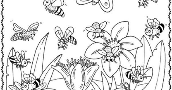 happy animal welcome to spring flower coloring pages kids coloring pages pinterest gardens. Black Bedroom Furniture Sets. Home Design Ideas