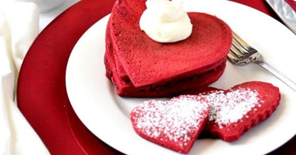 Red Velvet Pancake Recipe - Homemade - (Includes a recipe for sweetened