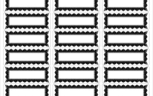 Vintage Framed Address Labels Free Download Several