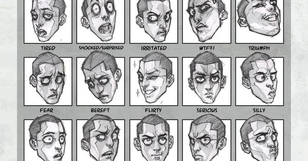Character Design Essentials : Essential expressions oren character design page
