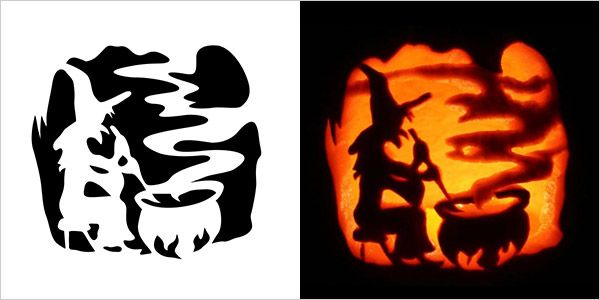 pumpkin template witch  7 Best Halloween Scary Pumpkin Carving Stencils 7 | Scary ...