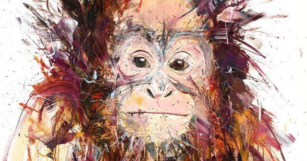 Orangutan painting by Dave White