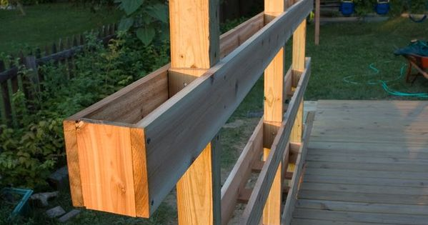 DIY Vertical Garden idea for the North fence & railing