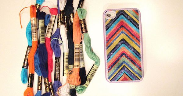 Cross stitched iPhone case! | Craft time! | Pinterest | Cross stitch ...