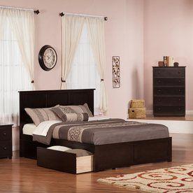 Atlantic Furniture Madison Espresso Queen Platform Bed With