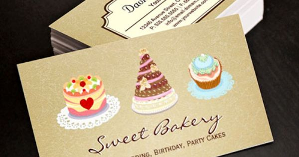 Pin By Modern Business Cards Bizcar On Bakery Business Cards Bakery Business Cards Templates Bakery Business Cards Cake Business Cards