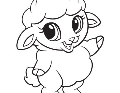 Learning Friends Sheep Baby Animal Coloring Printable From LeapFrog The Learning Friends