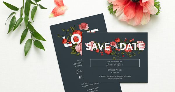 Vistaprint Wedding Gift Tags : Bold Floral Wedding Invitation Vistaprint Bold Floral Wedding ...