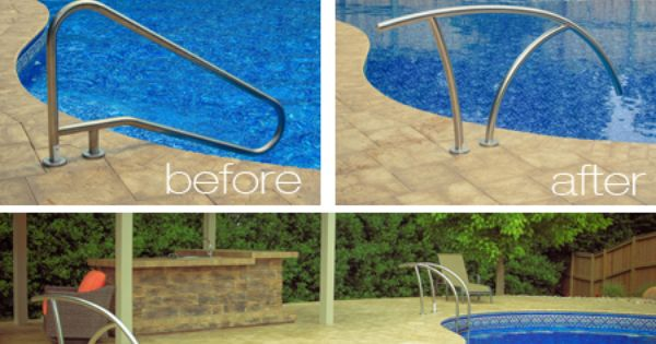 Look At The Difference The New Artisan Handrail Makes On This Pool Srsmith Seriousfun