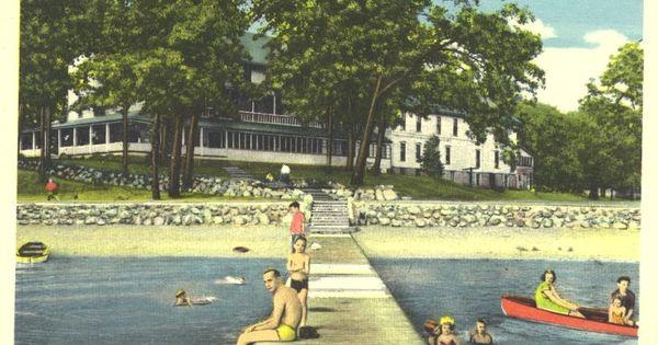Clear Lake Indiana Hazenhurst Hotel Postcard 1950 39 S Family History Pinterest Family History