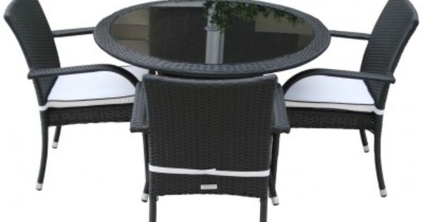 4 Roma Chairs and Small Round Table Dining Set Black  : bc47bc0e5e7207b521b123630fe0b04b from www.pinterest.com size 600 x 315 jpeg 20kB