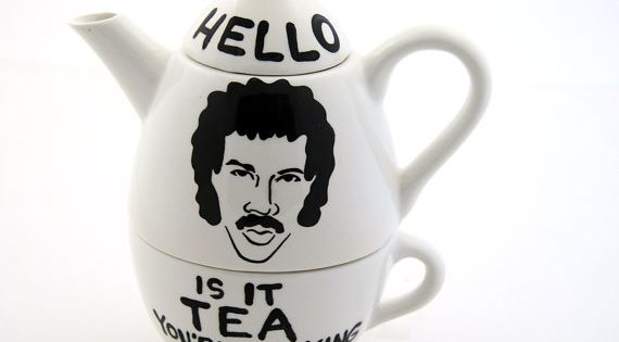 Hello Lionel Richie Ritchie Is it Tea Teapot Tea For One. $38.00,
