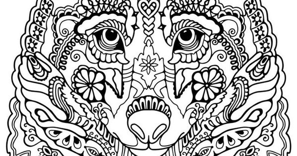intricate wolf pup coloring pages - photo#23