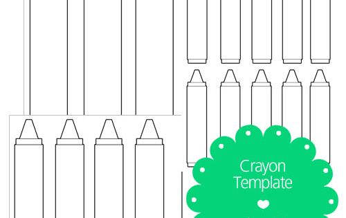 crayon label template - free printable crayon template kindergarten pinterest