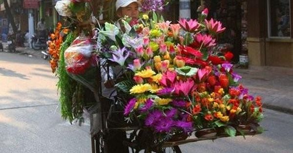 Petal peddler. I have one question...how is he staying upright?! Lol ;)