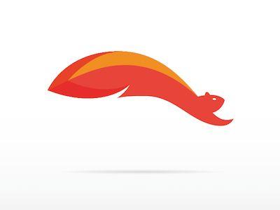 jumping squirrel logo mark squirrel logos and animal logo