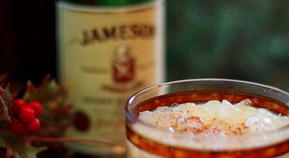 Kahlua, Eggnog and Jameson Irish Whiskey Cocktail-- holiday drinks