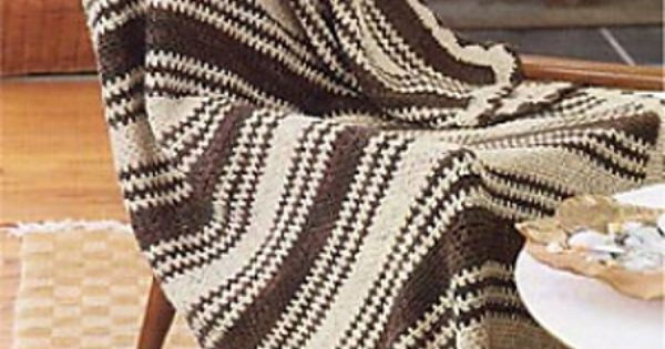 Crochet Afghan Patterns With 2 Colors : Ravelry: Striped Two-Color Crocheted Afghan pattern by ...