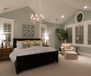 Luxury Astounding Light Blue On Low Vaulted Ceilings Vertical Home Bedroom Lighting Design Master Bedrooms Decor Fixer Upper Master Bedroom