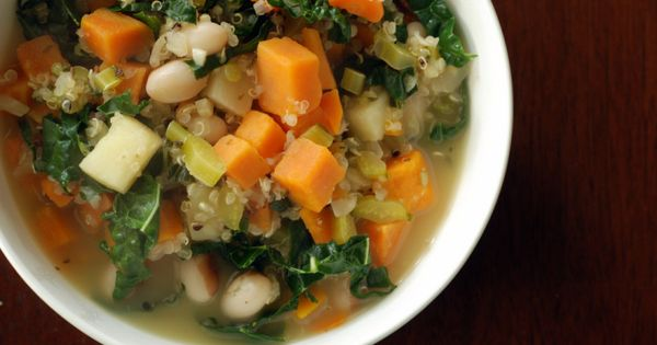 White Bean, Quinoa And Kale Stew with Fennel | Fennel, White Beans and ...