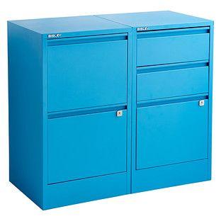 Cerulean Blue Bisley 2 3 Drawer File Cabinets Filing Cabinet 3 Drawer File Cabinet Storage