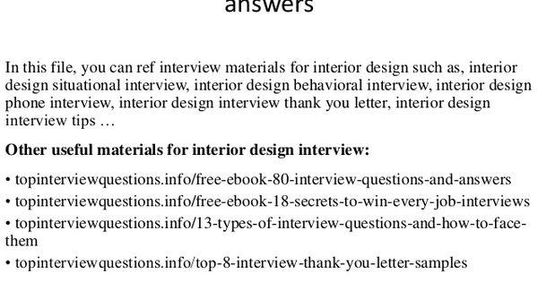 INTERIOR DESIGNER QUESTIONS Home Decoration Pinterest