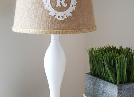 Silhouette Blog: DIY monogram lampshade
