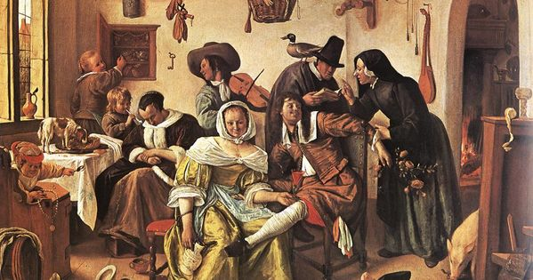 Jan Steen The World Turned Upside Down Beware Of Luxury