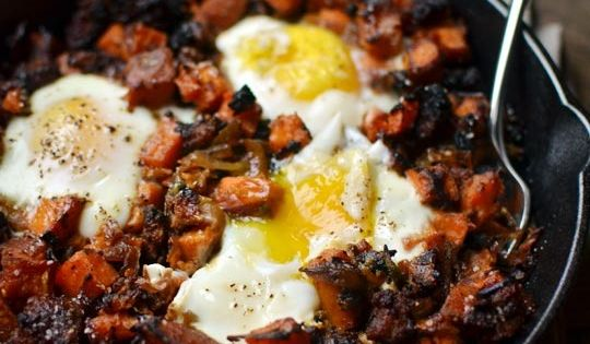 Sweet Potato Hash - plus 14 other sweet potato recipes! The hash