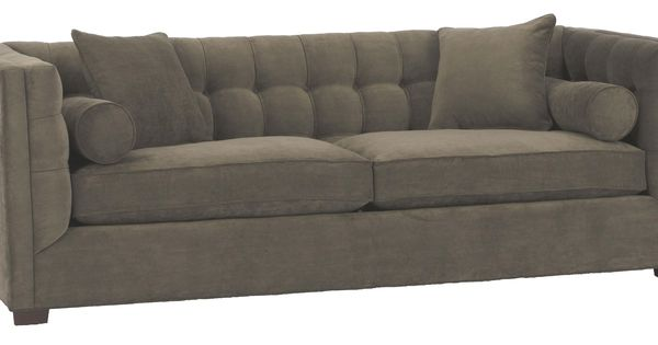 225 Contemporary Tufted Back Sofa By Southern Stoney