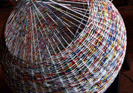 Basket Weaving Hobby Lobby : Weave a paper basket lampshade crafts diy