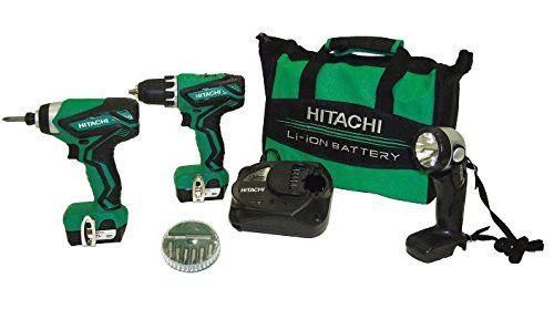 Hitachi Kc10dfl2 12 Volt Peak Cordless Lithium Ion Driver Drill And Impact Driver Combo Kit Lifetime Tool Warranty Combo Kit Hitachi Cordless Impact Drill