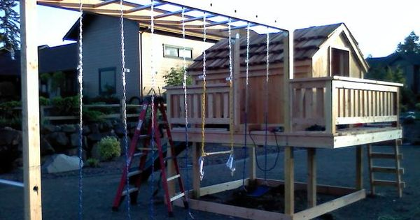 Sams custom sets swing set playhouse custom built for Built in seattle